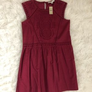 Never been worn, maroon Loft simply dress